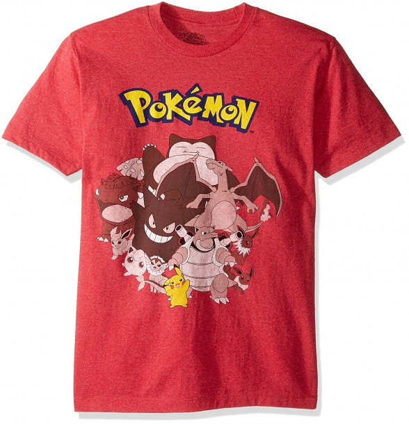 a2bfd1be YesAnime.com | POKEMON Group Characters Men T-Shirt Red Heather